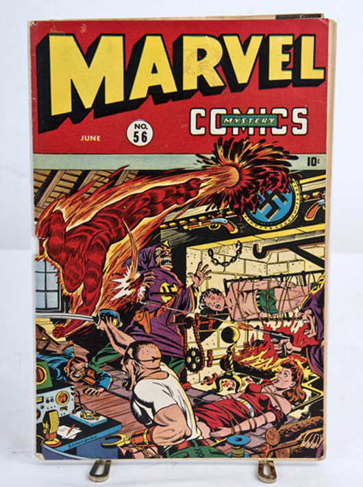 One of many comic books to be offered in approximately 50 group lots, with titles including Tales of Suspense, Mystery Tales, Strange Tales, Tales to Astonish, Suspense, Spellbound, Ghost Rider, etc. Abell Auctions image.