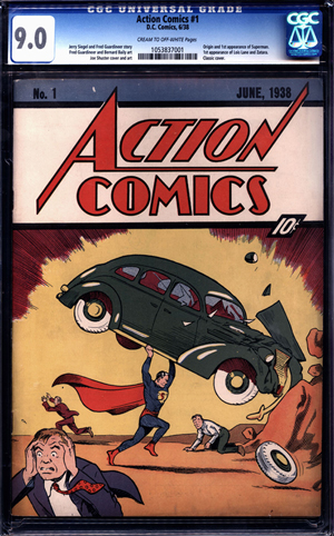 This CGC-certified 9.0 copy of 'Action Comics' No. 1, the highest-graded specimen featuring the first appearance of Superman, was sold by ComicConnect.com for $2.2 million in 2011. The copy found in the Minnesota home recently is graded 1.5. Image courtesy of ComicConnect.com.