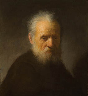 Rembrandt van Rijn (Dutch, 1606-1669), Bearded Old Man, from private collection. Photo by Rene Gerritsen, courtesy of Rembrandthuis.