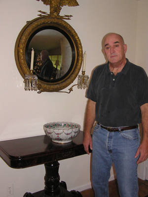 West Palm Beach dealer David Strasser displays a few of his choice antiques. Image courtesy of the West Palm Beach Antiques Festival.