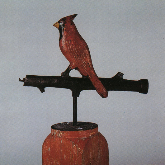 The charming Cardinal on Branch was designed by an unknown manufacturer. Photo provided by John and Nancy Smith.