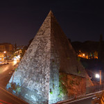 The pyramid of Caius Cestius is on a thoroughfare in the south side of old Rome. This file is licensed under the Creative Commons Attribution-Share Alike 3.0 Unported license.
