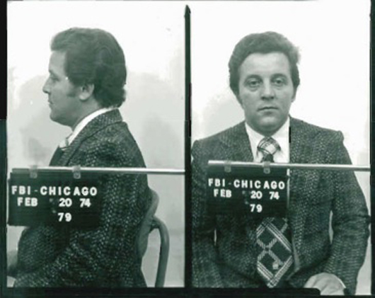 An FBI mugshot of Chicago Outfit mobster Anthony 'the Ant' Spilotro, who In 1971, succeeded Marshall Caifano as the mob's representative in Las Vegas. He was murdered in 1986. Image courtesy of Wikimedia Commons.