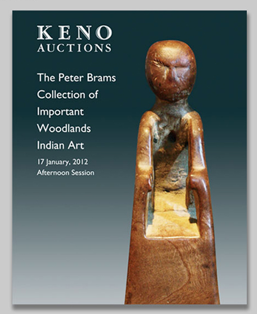 Keno Auctions will present the Peter Brams Collection of Important Woodlands Indian Art on Jan. 17, 2012, with Internet live bidding through LiveAuctioneers.com. Image courtesy of Keno Auctions.