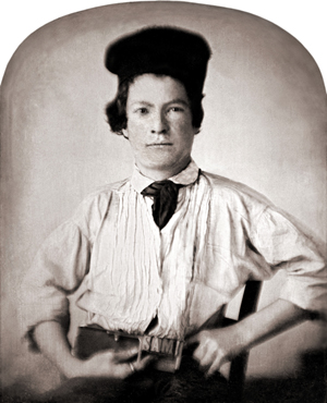 Mark Twain at age 15, when he was friends with Laura Hawkins. Image courtesy of Wikimedia Commons.