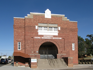 The Deming Luna Mimbres Museum is housed in the town's former armory. Image courtesy of Wikimedia Commons.
