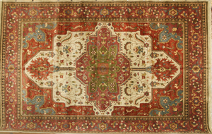 Indo Heriz rug, 11 feet 9 inches x 18 feet 2 inches. Estimate: $4,000-$7,000. Image courtesy of Kaminski Auctions.