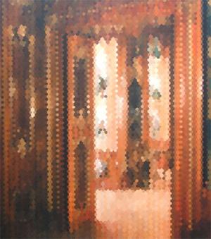 Alex Brown (American, b. 1966-), 'Presence Chamber,' 1998, 68 x 60 inches. Est. $6,000-$9,000. Clark's Fine Art image.