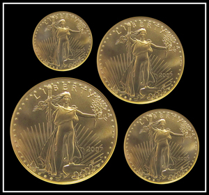 U.S. 2007 Gold Eagle proof set, West Point Mint. Image courtesy of William Jenack Estate Appraisers and Auctioneers.