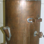 This copper moonshine still sold for $400 at an auction in Colorado in 2007. Image courtesy of LiveAuctioneers.com Archive and Bean & Bean Auctions Inc.