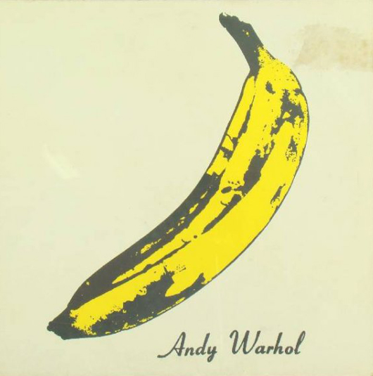 The Velvet Underground LP album cover by Warhol. Image courtesy of LiveAuctioneers.com Archive and The Old Church Auction Galleries.