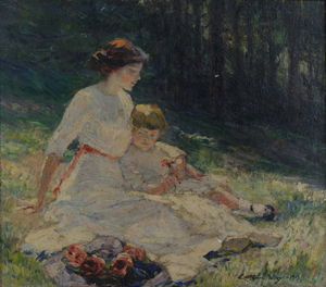 Anna Catherine Wiley is regarded by many as Tennessee's finest Impressionist painter. This oil on canvas of a mother and child, painted by Wiley in 1913 before her career-ending breakdown, is estimated at $60,000-$75,000. Image courtesy of Case Antiques Auction.