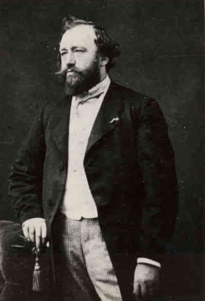 Adolphe Sax (1814-1894), inventor of the saxophone. Several of his early instruments are included in the University of Michigan's collection. Image courtesy of Wikimedia Commons.
