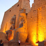 The Temple at Luxor, with statues of Ramses II at the entrance. Oct. 16, 2006 image by Celio Maielo, licensed under the Creative Commons Generic ShareAlike 3.0 license.