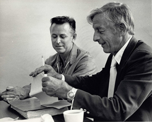 Photograph of James Earl Ray (left) with attorney Jack Kershaw, from an archive of materials pertaining to Ray, convicted assassin of the Rev. Dr. Martin Luther King Jr.. Auction estimate for archive $8,000-$10,000. Image courtesy of LiveAuctioneers.com and Case Antiques Inc.