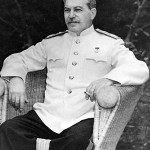 Russian dictator Joseph Stalin photographed in Berlin in August 1945. Image courtesy of Wikimedia Commons.