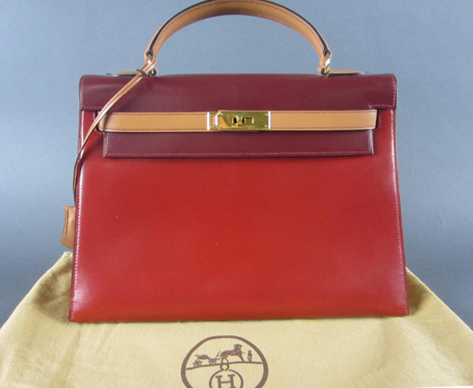 Hermes 'Grace Kelly' handbag, $5,700. Leighton Galleries image.
