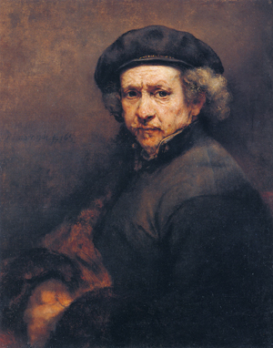 This Rembrandt self portrait from the National Gallery of Art in Washington, D.C., is included in the exhibition. Image courtesy of Wikimedia Commons.