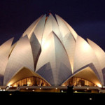 An architectural masterpiece, The Lotus Temple in South Delhi exemplifies a newly empowered India, whose rapidly growing upper class is becoming interested in Western art. Photo licensed under the Creative commons Attribution-Share Alike 2.0 Generic license.