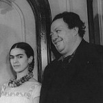 1932 photo of Frida Kahlo and her husband, the renowned Mexican muralist and artist Diego Rivera. Estate of Carl Van Vechten.