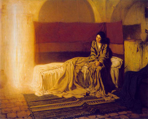 Henry Ossawa Tanner (American, 1859-1937) painted 'The Annunciation' in 1898. Philadelphia Museum of Art. Image courtesy of Wikimedia Commons.