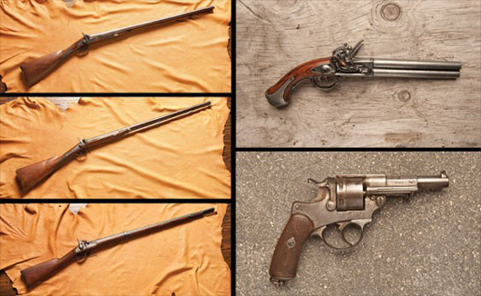 Five Assorted Guns. Image courtesy of LiveAuctioneers.com and RM.