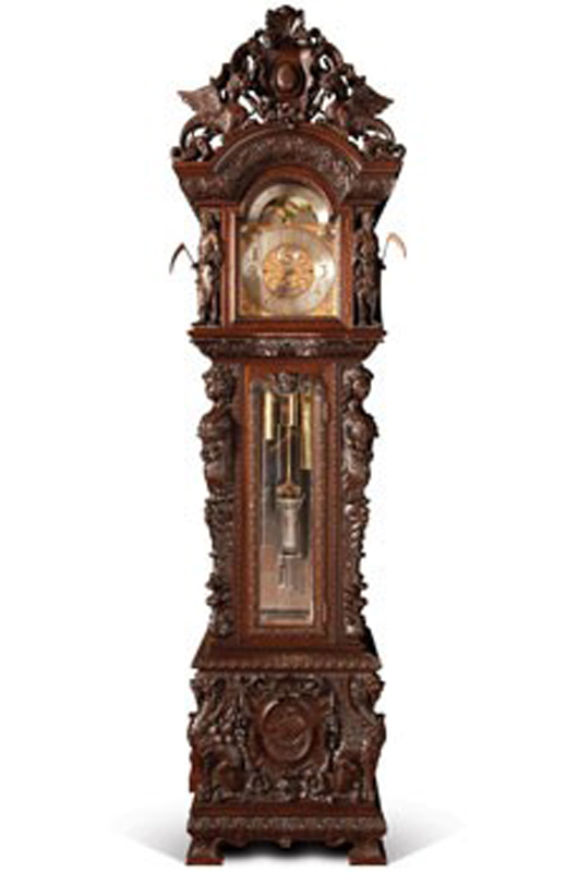 Black, Starr & Frost Hall Clock. Image courtesy of LiveAuctioneers.com and RM.