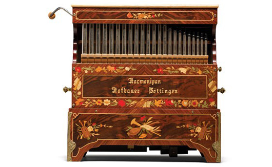Hofbauer Harmonipan Crank Organ. Image courtesy of LiveAuctioneers.com and RM.