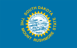 The current Flag of South Dakota. Image licensed under the Creative Commons Attribution-Share Alike 3.0 Unported license.