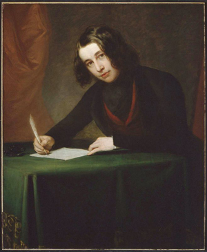 A portrait of Charles Dickens in 1842 by Francis Alexander. Image courtesy of Wikimedia Commons.