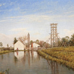 Top lot in Neal Auction Co.'s February sale was 'Louisiana Drilling Rigs,' a rare depiction of early technology by Richard Clague (1821-1873), which sold for $206,137.50. Image courtesy Neal Auction Co.