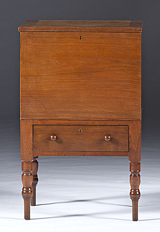 Kentucky or Tennessee sugar chest. Estimate $4,000-$6,000. Image courtesy Cowan's Auctions Inc.