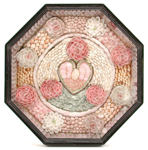 This 15-inch sailor's valentine was made from hundreds of small shells. It dates from the 19th century and sold for $1,800 at a November 2011 sale at San Rafael Auction Gallery in San Rafael, Calif.