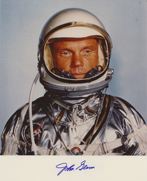 Mercury astronaut John Glenn, autographed 8-by-10 photo. Image courtesy of LiveAuctioneers.com Archive and Alexander Autographs.