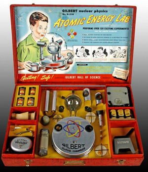 Retailing for $49.50 in 1950, few of these Gilbert Atomic Energy Lab toy science kits were sold. Image courtesy LiveAuctioneers.com Archive and Dan Morphy Auctions.