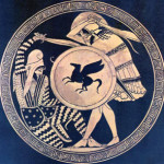 With no government funds to assist them, Greece's museums face a difficult task to protect national treasures like this 5th century B.C. kylix with a depiction of a Greek hoplite battling a Persian warrior. National Archaeological Museum of Athens. Public domain image in the USA.