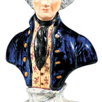 Can you recognize George Washington? This Staffordshire bust made in England in the 19th century does not look much like the oil paintings made when Washington was alive. But he was still admired years after his death, and this type of figure sold well until the 1850s. Price: $240 at a 2011 Neal Auction in New Orleans.