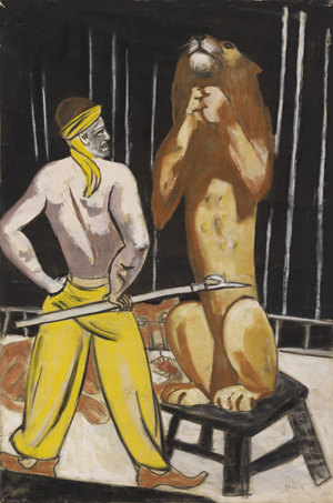 """Das Gemälde """"Löwenbändiger"""" von Max Beckmann holte 846.000 Euro im Herbst 2011 auf der Auktion für moderne Kunst im Kunsthaus Lempertz, Köln. Ihre nächste Auktion für moderne Kunst findet am 22.Mai statt. Foto mit freundlicher Genehmigung von Kunsthaus Lempertz."""