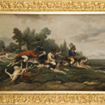 William Holbrook Beard (American, 1824-1900), Monkeys Riding Dogs, est. $6,000-$8,000. Quinn's Auction Galleries image.