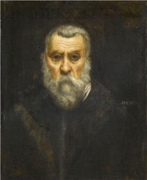 Tintoretto self-portrait. Image courtesy Wikipaintings.org.
