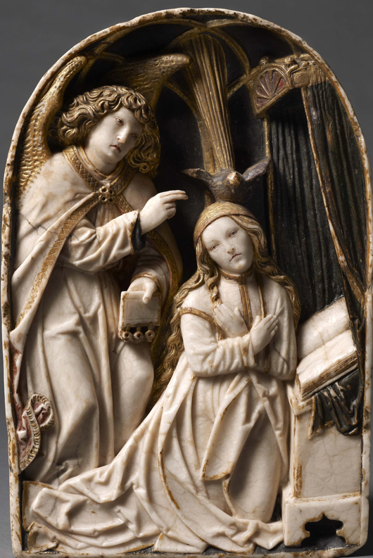 'The Annunciation,' a  newly discovered 16th-century alabaster relief by the German sculptor and woodcarver Tilman Riemenschneider, dating from 1515-1520, which will be exhibited by Daniel Katz Ltd. of London at the TEFAF fair in Maastricht in March. Image courtesy Daniel Katz Ltd. and TEFAF.