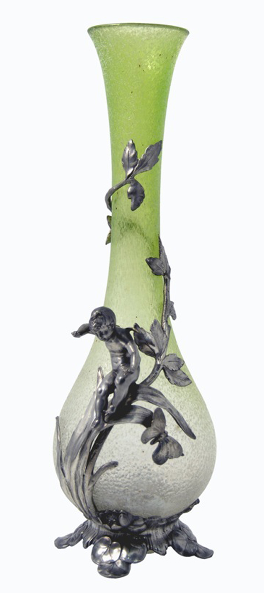 A fine Art Nouveau vase to be offered by London dealers Shapiro & Co. at this year's Chelsea Antiques Fair. Image courtesy Shapiro & Co.