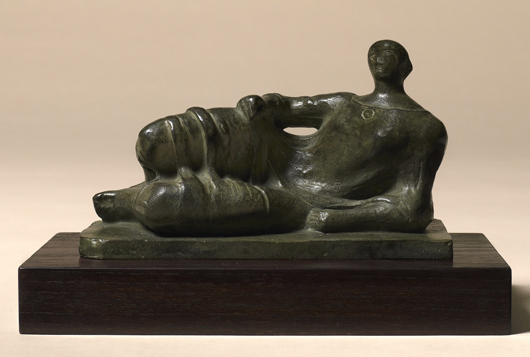 Henry Moore, 'Reclining Figure,' 1945, bronze with green patina, to be offered by London Modern British dealer Offer Waterman at the European Fine Art fair in Maastricht priced at £450,000 ($713,450). Image courtesy Offer Waterman and TEFAF.