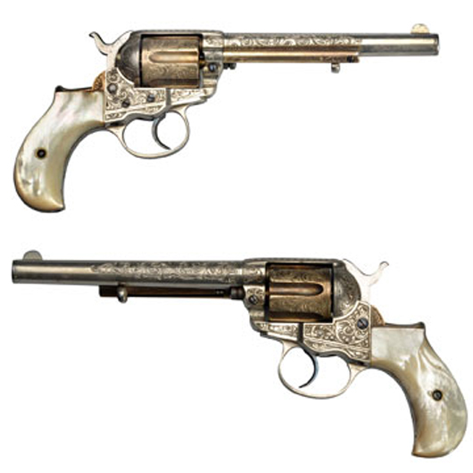 Colt Lightning Model 1877 gun with original papers, $24,000. Morphy Auctions image.