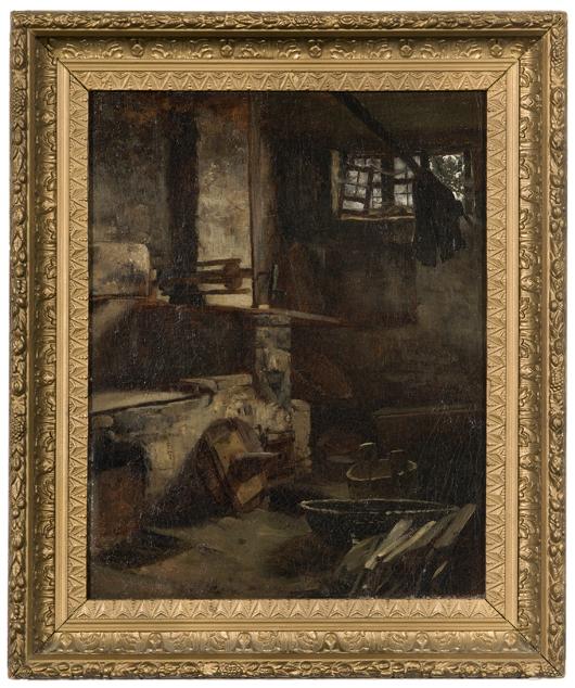 Cincinnati painter Frank Duveneck's 'Venetian Interior' made $18,800. Image courtesy Cowan's Auctions Inc.