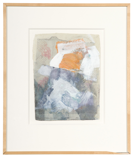 Robert Rauschenberg painting, $15,275. Image courtesy Cowan's Auctions Inc.