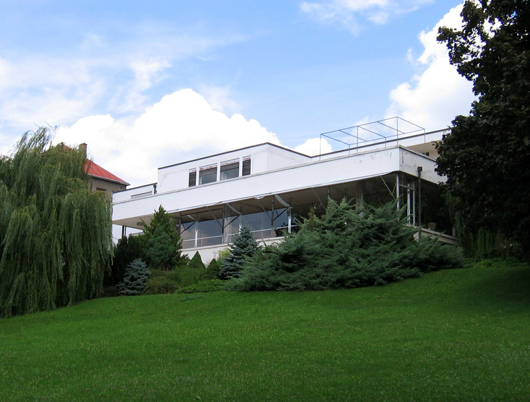 A UNESCO World Heritage site, Villa Tugendhat in Brno, Czech Republic was designed by German architect Ludwig Mies van der Rohe and built between the years 1928-1930 for Fritz Tugendhat and his wife, Greta. Photo by Mr. Hyde.