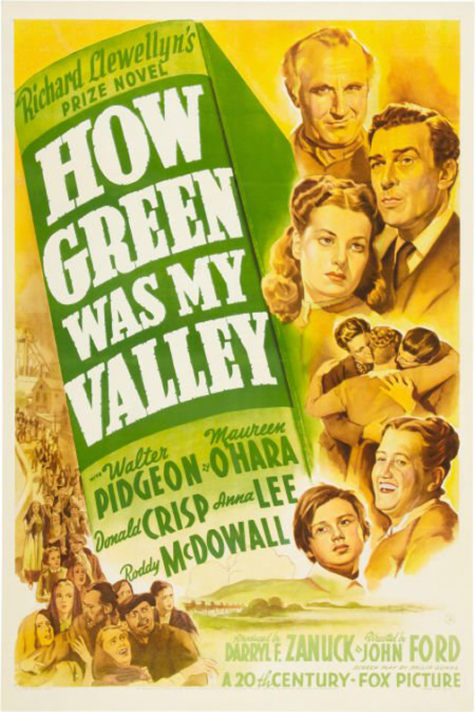 John Ford's 'How Green Was My Valley' won five Academy Awards in 1941, including Best Picture and Director. Image courtesy LiveAuctioneers.com Archive and Heritage Auctions.