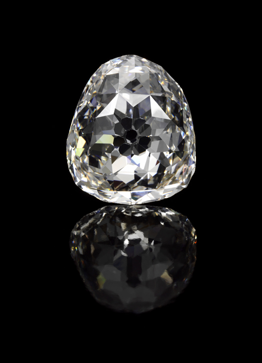 Modified pear double rose cut diamond, 3.98 carats. Image courtesy Sotheby's.