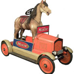 American National 'Moxie' pedal car from the 1920s, the only all-original one known. Image courtesy Showtime Auction Services.